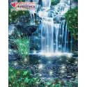 Искрящийся водопад Алмазная вышивка мозаика АЖ-1496