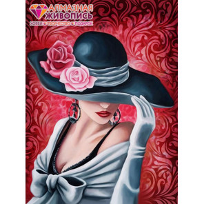 Леди Роза Алмазная вышивка мозаика АЖ-1504