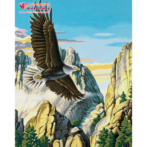 Горный орел Алмазная вышивка мозаика АЖ-1518