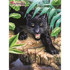 Черная пантера Алмазная вышивка мозаика АЖ-1522