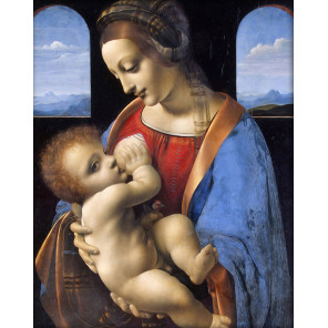 Мадонна Литта Алмазная вышивка мозаика АЖ-1527