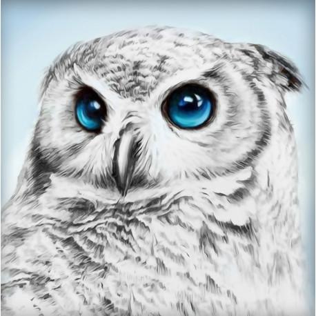 Взгляд совы Алмазная вышивка мозаика АЖ-1549
