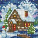 Зимний домик Алмазная вышивка мозаика АЖ-1566