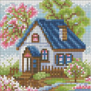 Весенний домик Алмазная вышивка мозаика АЖ-1567