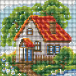 Летний домик Алмазная вышивка мозаика АЖ-1568