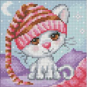 Сонный котенок Алмазная вышивка мозаика АЖ-1571