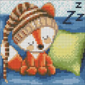 Сонный лисенок Алмазная вышивка мозаика АЖ-1573