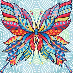 Узор бабочки Алмазная вышивка мозаика АЖ-1578