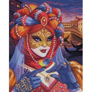 Венецианская дама Алмазная вышивка мозаика АЖ-1586