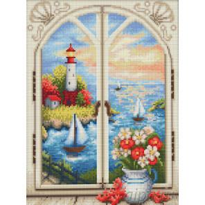 Маяк за окном Алмазная вышивка мозаика АЖ-1665