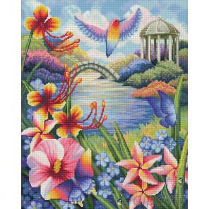Цветущий сад Алмазная вышивка мозаика АЖ-1666