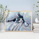 Кот под одеялом Алмазная вышивка мозаика