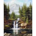 Бурный водопад Алмазная вышивка мозаика АЖ-1685