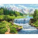 Полдень у реки Алмазная вышивка мозаика АЖ-1686