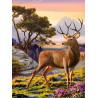 Благородный олень Алмазная вышивка мозаика АЖ-1692