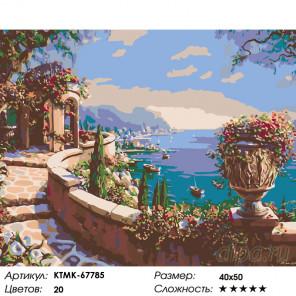 Количество цветов и сложность Тенистая беседка Раскраска картина по номерам на холсте KTMK-67785
