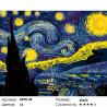 Количество цветов и сложность Звезды в ночи Раскраска картина по номерам на холсте ARTH-43