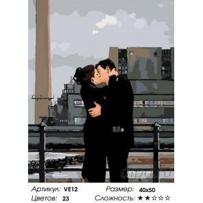 Количество цветов и сложность Служебный роман Раскраска картина по номерам на холсте VE12