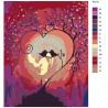 Раскладка Магия любви Раскраска картина по номерам на холсте RA210