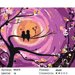 Волшебство луны Раскраска картина по номерам на холсте RA215