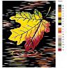 Раскладка Осенний лист Раскраска картина по номерам на холсте RA224