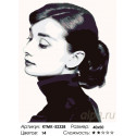 Количество цветов и сложность Портрет Одри Раскраска картина по номерам на холсте KTMK-52328