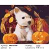 Количество цветов и сложность Щенок с тыквами Раскраска картина по номерам на холсте KTMK-93370