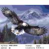 Количество цветов и сложность Парящий орлан Раскраска картина по номерам на холсте KTMK-60370