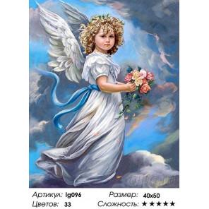 Количество цветов и сложность Небесный ангел Алмазная мозаика на подрамнике LG096