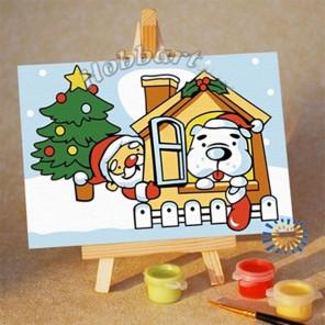 Праздник в каждый дом Раскраска по номерам на холсте Hobbart M1015110-LITE