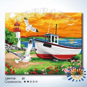 Количество цветов и сложность Крик чаек Раскраска по номерам на холсте Hobbart HB4050389-LITE