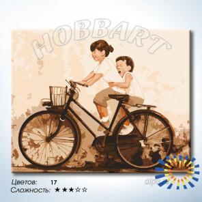 Количество цветов и сложность В детстве Раскраска по номерам на холсте Hobbart HB4050400-LITE