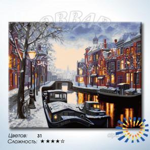 Припорошенный снегом Раскраска по номерам на холсте Hobbart