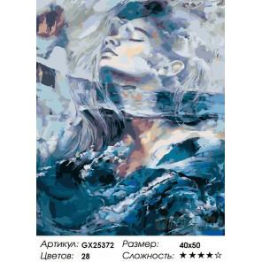Количество цветов и сложность Душа воды Раскраска картина по номерам на холсте GX25372