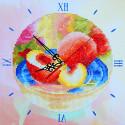 Солнечные персики Часы Алмазные на подрамнике с частичной выкладкой Color Kit