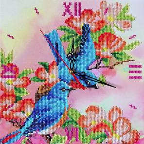 Птички Алмазные на подрамнике с частичной выкладкой Color Kit 7303014