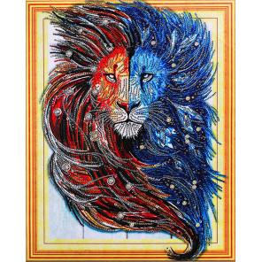Лев Алмазная вышивка мозаика 5D Color Kit FKU001