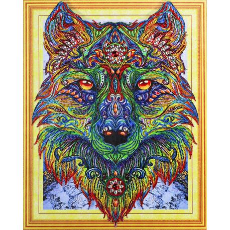 Волк Алмазная вышивка мозаика 5D Color Kit FKU003