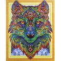 Волк Алмазная вышивка мозаика 5D Color Kit