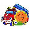 Пожарная машина Набор для творчества из фоамирана Color Kit CL018