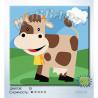 Коровка. Веселые зверюшки Раскраска по номерам на холсте Hobbart HB2020059-Lite