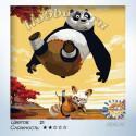 Кунфу панда Раскраска по номерам на холсте Hobbart HB3030014-Lite
