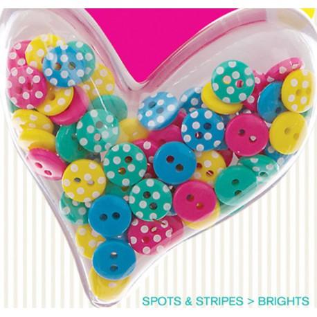 Горошек Spots&Stripes Brights Пуговицы Docrafts