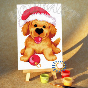 К празднику готов! Раскраска по номерам на холсте Hobbart M1015891-Lite