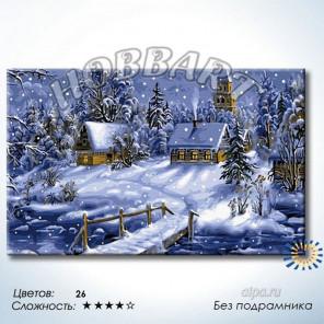 Зимняя сказка Раскраска по номерам на холсте Hobbart DH5080038-LITE