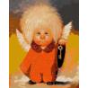 Ангелок с ключом Раскраска картина по номерам на холсте