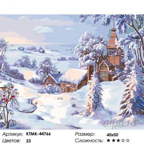 Количество цветов и сложность Снежное одеяло Раскраска картина по номерам на холсте KTMK-44766