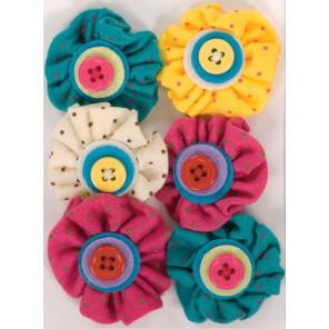 Spots & Stripes Brights Цветы для скрапбукинга, кардмейкинга Docrafts