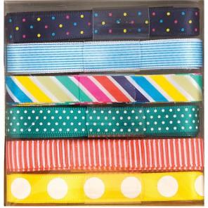 Spots & Stripes Brights набор Ленты для скрапбукинга, кардмейкинга Docrafts
