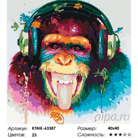 Количество цветов и сложность Веселая музыка Раскраска картина по номерам на холсте KTMK-63387